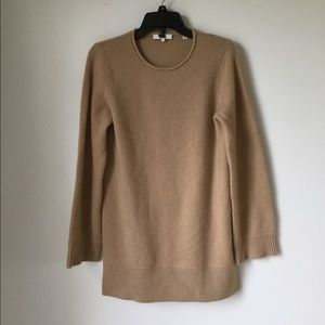 Vince Cashmere Crew Neck Tunic In CAMEL SZ M #44